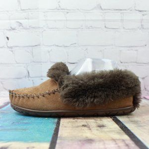 LL BEAN Lined Wicked Good Moccasin Slippers Size 7
